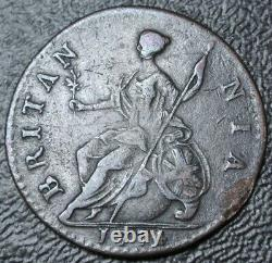 1774 GREAT BRITAIN HALF PENNY COPPER George III SCARCE DATE