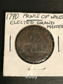 1790 Great Britain 1/2 Penny Prince of Wales Elected Grand Master Masons Estate