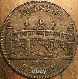 1795 Great Britain Bristol Half Penny Token