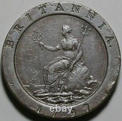 1797 Great Britain George III 2 Pence XF Cartwheel Soho Penny Coin (21041001R)