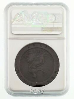 1797 Soho Great Britain 2 Pence Copper Coin Graded by NGC as VF Details