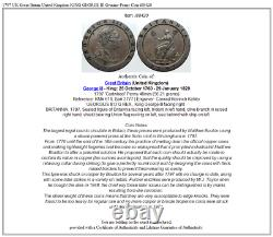 1797 UK Great Britain United Kingdom KING GEORGE III Genuine Penny Coin i88420