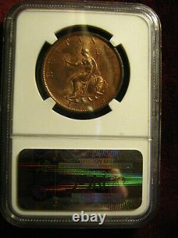 1799 Soho Great Britain Half Penny, Ngc Certified Ms 63rb