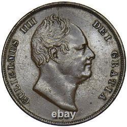 1831 Penny William IV British Copper Coin Nice