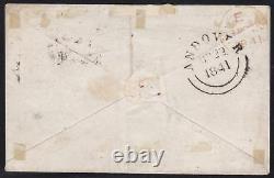 1840 GRAN BRETAGNA, GREAT BRITAIN n° 1 Penny intense Black (TA) SU LETTERA