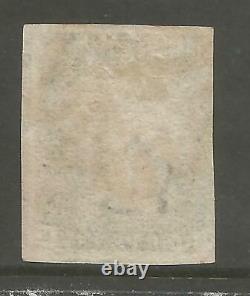 1840 Penny Black Ge. Plate 8 3 Large Margins Cancelled By Red Cross