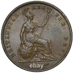 1841 Penny Victoria British Copper Coin Very Nice