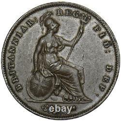 1844 Penny Victoria British Copper Coin Nice