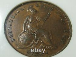 1849 Copper Victorian Penny from Great Britain, P-1497, Very Rare