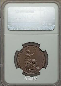 1852 Victoria 1/2 Penny Halfpenny NGC MS62 Dots on Shield Great Britain
