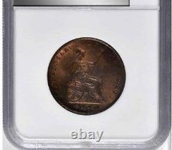 1855 Great Britain 1/2 Penny, NGC MS 66 RB, None Finer @ NGC & PCGS, Red Brown