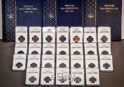 1860 to1967 UNC 109 Coins NGC Great Britain UK Half Penny Lot Near Complete