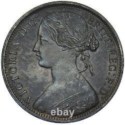 1862 Penny Victoria British Bronze Coin V Nice
