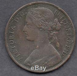 1867 Great Britain Queen Victoria 1d / one penny coin