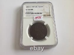 1869 Great Britain Penny NGC VF 35 Brown Key Date