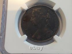 1875H Great Britain Penny Large Date NGC VF 35 Brown