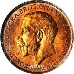 1911 Great Britain 1 Penny, NGC MS 65 RD, Red, None Finer At NGC