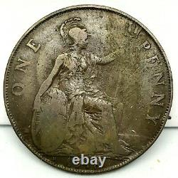 1918 H Great Britain- George V One Penny Bronze Coin- Km# 810 Rare