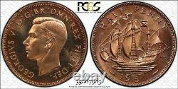 1951 Great Britain Half Penny PCGS Proof 64Red Amazing Coin