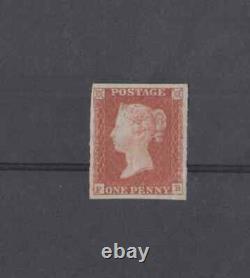 1d Red Penny Red Imperf 4 Margin Mint FB Excellent Margins Top Left Corner Close