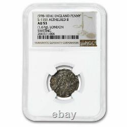 (978-1016) Great Britain Silver Penny Aethelred II AU-53 NGC SKU#216718