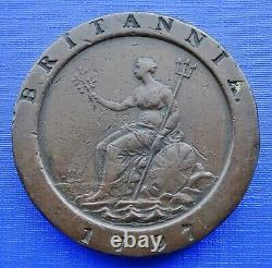 Britain Two Penny Cartwheel Coin1797 George IIIKM#619Copper 56.7gVFineB/144