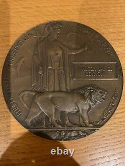 British WW1 Memorial Plaque Death Plaque Death Penny BEYNON Royal Navy