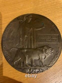British WW1 Memorial Plaque Death Plaque Death Penny COX