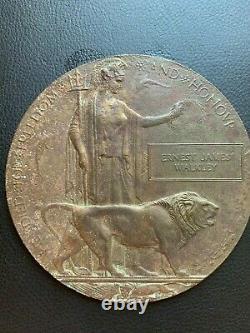 British WW1 Memorial Plaque Death Plaque Death Penny WALKLEY RFA