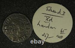Collection of 9, UK Great Britain Edward I Silver Penny from Old Seaby Auctions