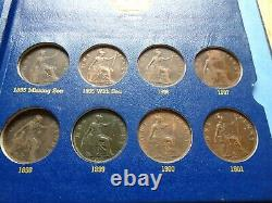 Deluxe Whitman Victoria Penny 1860 1901 With 50 Coins Great Britain Uk