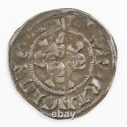 Edward II Silver Long Cross Penny, Canterbury Mint, Class 14, 1307-1327