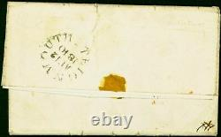 GB 1840 1d Penny Black SG2 (F-F) Good Used on Letter Sheet