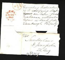 GB Cover 1840 CLEAR PROFILE PENNY BLACK Plate 1a(CE) Sunderland MX Durham 786a