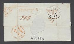 GB One Penny Black Cover 4 Margins Plate 4 EK Peebles JA 22 1841 Red (Brown) MX
