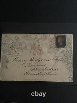 GB One Penny MULREADY Envelope used July 1840 Uprated To 2d With Penny Black