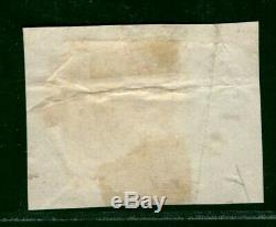 GB PENNY BLACK (AA) BRIGHT BLUE Undated WHITWELL Cancel 1840 Piece RARE YBLUE5