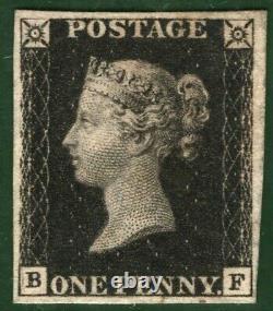 GB PENNY BLACK QV Stamp SG. 1 1d Plate 5 (BF) Mint Original Gum Cat £12,500 RRED6