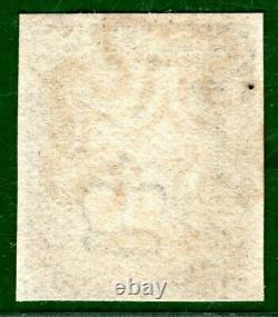 GB PENNY BLACK QV Stamp SG. 1 1d Plate 7 (NK) 1840 Super Red MX Cat £525+ ORED40
