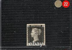 GB PENNY BLACK QV Stamp SG. 2 1840 1d Plate 1b (IH) Mint LMM Cat £12,500 GRED22