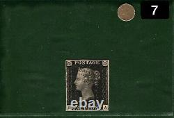 GB PENNY BLACK QV Stamp SG. 2 1840 1d Plate 5 (NA) Mint VLMM c£12,500+ CERT GOLD7