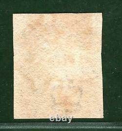 GB PENNY BLACK QV Stamp SG. 2 1d Plate 5 (PF) Used Red MX (1840) Cat £375+ RED7