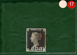 GB PENNY BLACK SG. 2 1840 1d Plate 1b (BJ) CLEAR PROFILE Classic Cat £375- ORED17