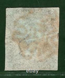 GB PENNY BLACK SG. 2 1840 1d Plate 1b (IJ) Spec. A1d Bleute Paper c£750 BLRED12