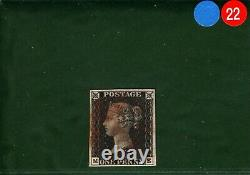 GB PENNY BLACK SG. 2 1840 1d Plate 7 (ME) Red MX Classic Stamp Cat £400+ BLRED22