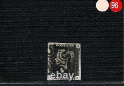 GB PENNY BLACK SG. 2 1d Plate 10 (SB) Fine Used MX Maltese Cross Cat £950 ORED96