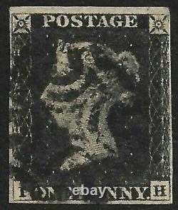 GB Penny Black 4 MARGINS with Black Maltese Cross (CV £375+)