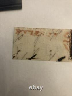 GB QV 1840 1d Penny Black SF Plate 3, 4 Margin On Piece Red MX Aylesbury Lovely