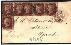 GB SG. 17 Cover 1854 REGISTERED PENNY PINK 1d Red Multiple Stockbridge Hants 482d