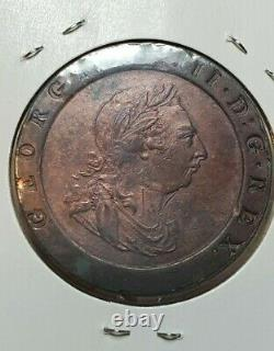 GREAT BRITAIN 1797 CARTWHEEL TWO PENCE GEORGE III aUNC NICE LUSTRE